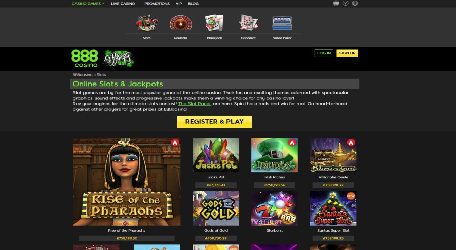 888 Casino Games -  Exelent Range of Luxury Games