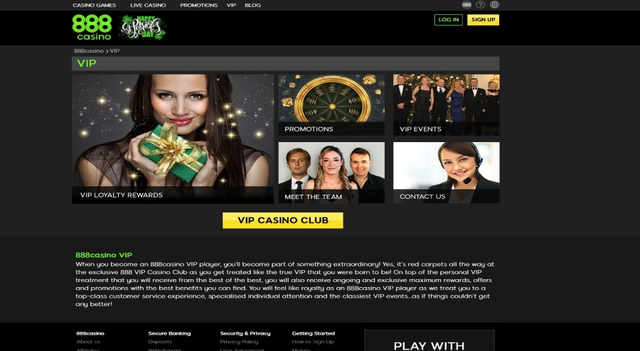 Become Part of 888 Vip Casino Club