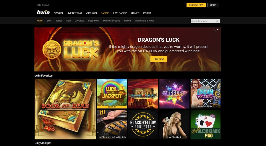 Play Online Casino Games at bwin Casino