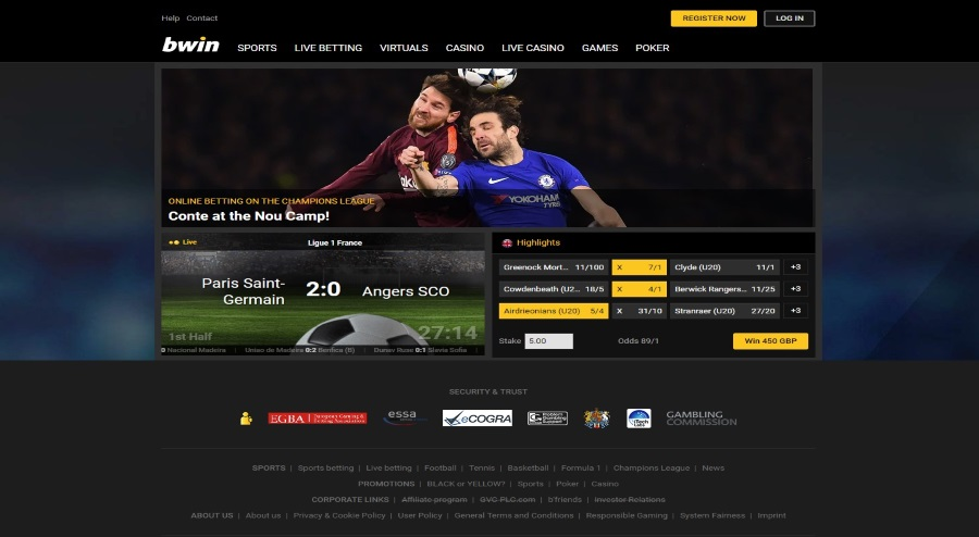 bwin - Online Betting and Real Money Gaming